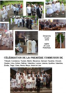 1ère communion 2016